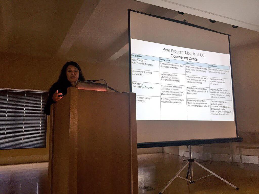 Great talk on peer program models at UC Irvine by Dr Jeanne Manese.
